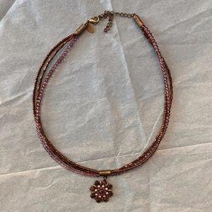 Liz Sophia NWOT Crystal Pendant Necklace